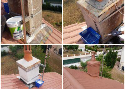 Rénovation de la maçonnerie d'une cheminée